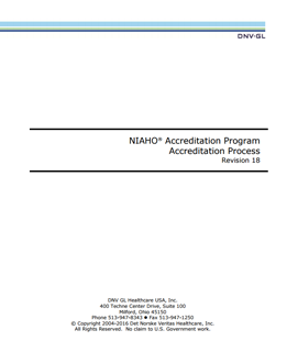 Cover of the NIAHO Accreditation Program Accreditation Process document