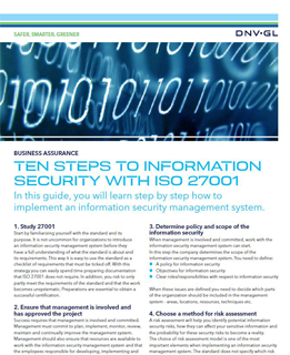 Ten Steps to Information Security PDF Thumbnail