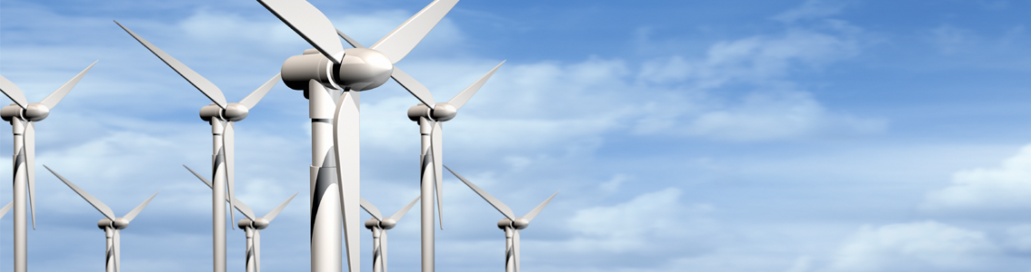 Graphic of wind turbines as Banner image for ISO 50001 Auditors course