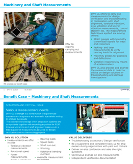 Machinery and Shaft Measurements