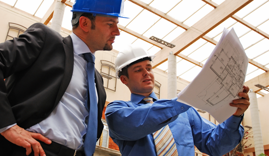 Two men with construction hats as banner image for Modern Safety Management Course