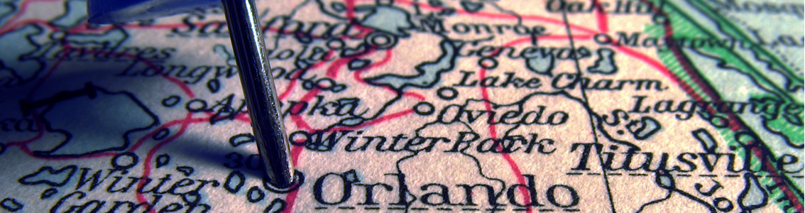Orlando Map as banner image for the 2016 Healthcare Symposium