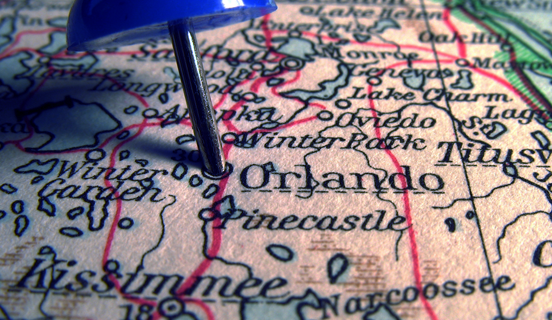 Orlando map as Link Tile image for the 2016 Healthcare Symposium.