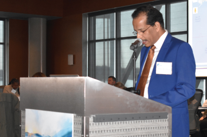 Anthony DSouza, Executive Vice President DNV GL Maritime Americas, gave a keynote address to attendees